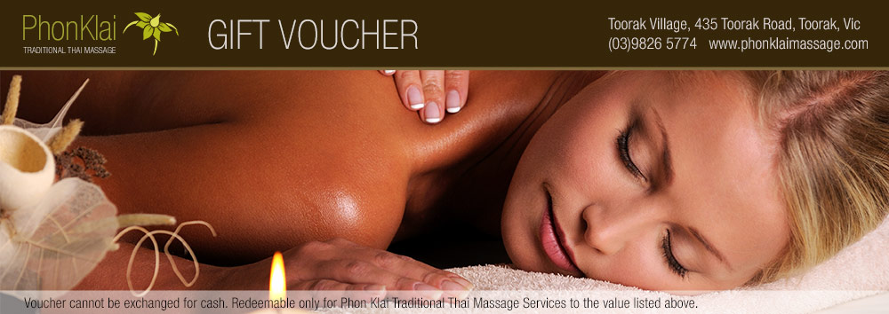Phon Klai Traditional Thai Massage Gift Voucher